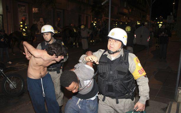 Brazil protest arrest