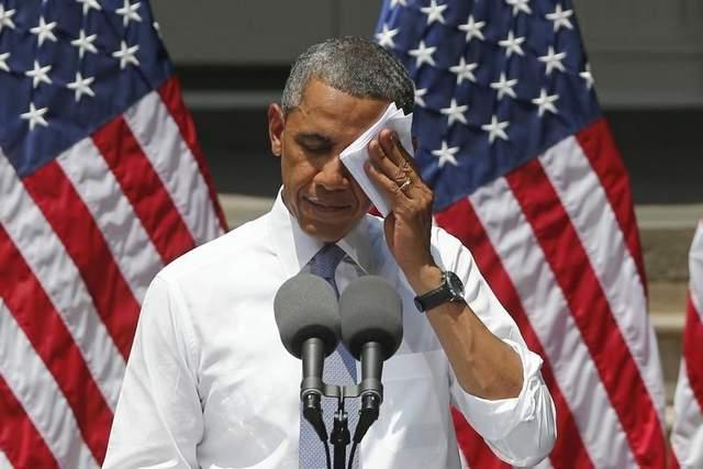 Obama swesting