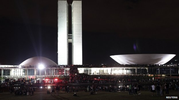 Protest National Congress Brasilia