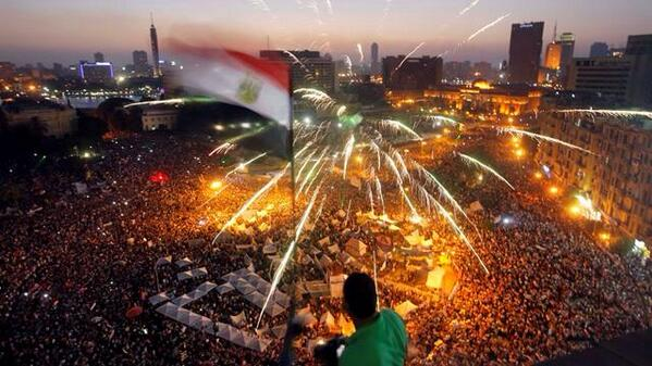 Tahrir Sq. at night