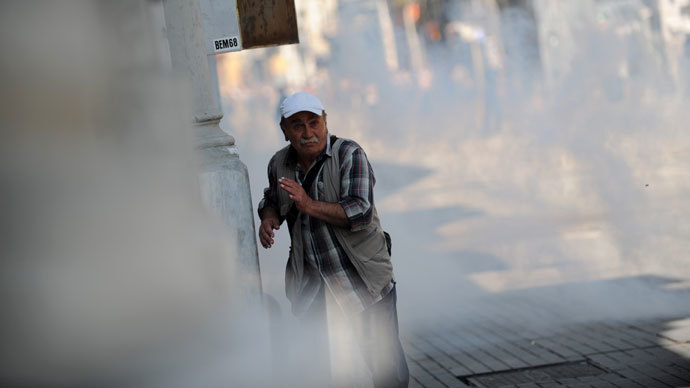 Tear Gas Escape Turkey