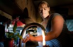 Jodie Simons  demonstrates how her sink water lights on fire.  I