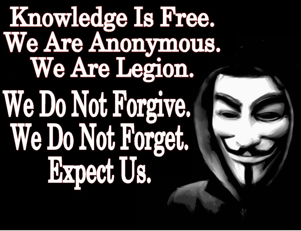 Anonymous Knowledge is Free Expect Us