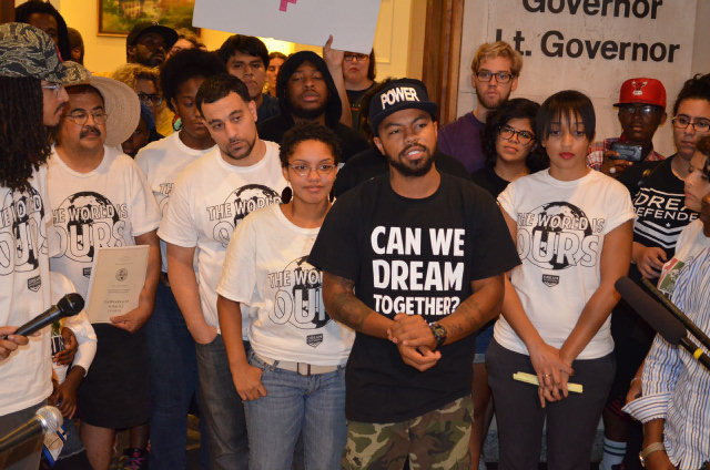 Dream Defenders in Capitol 2