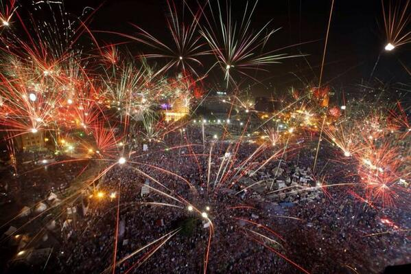 Egyptians celebrate Morsi exit