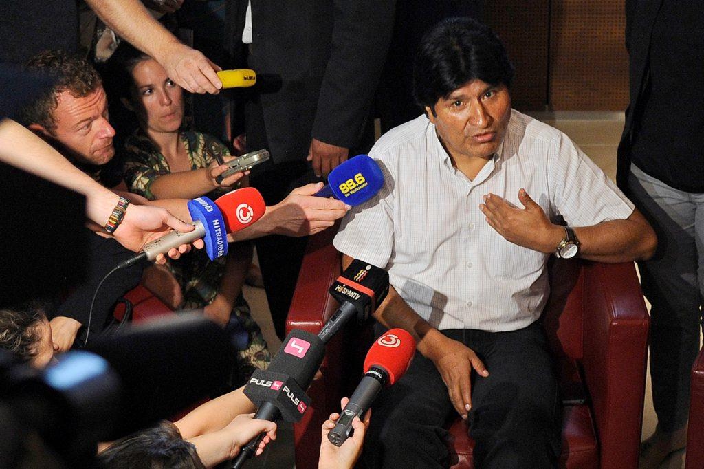 Evo Morales in Austrian airport