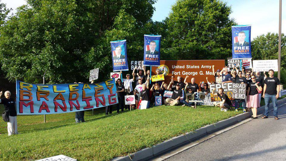 Free Bradley Manning Ft. Meade