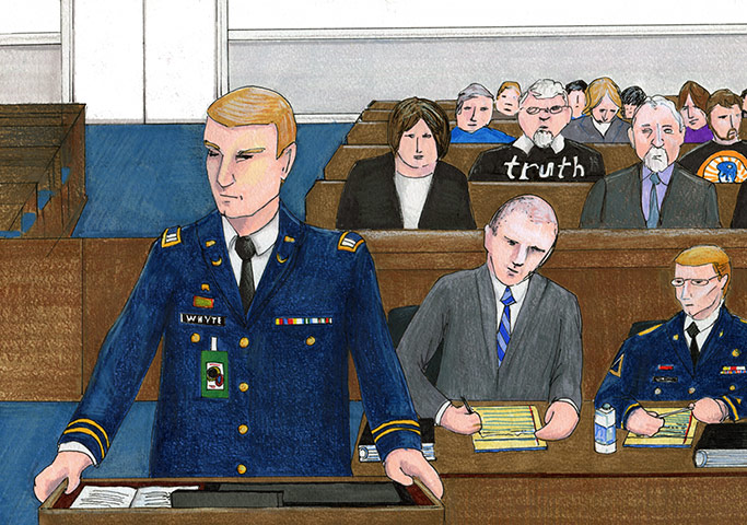 Captain Hunter Whyte, David Coombs, Bradley Manning