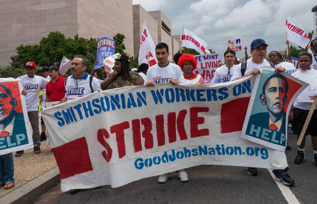 Smithsonian workers strike 3