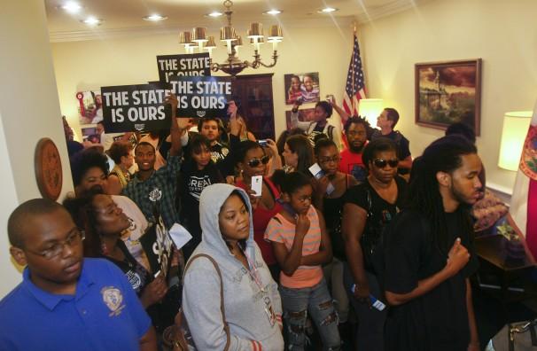 Trayvon protest Rick Scott 2