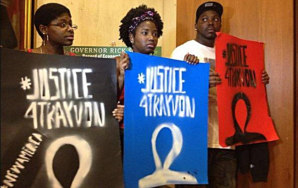 Trayvon protest Rick Scott