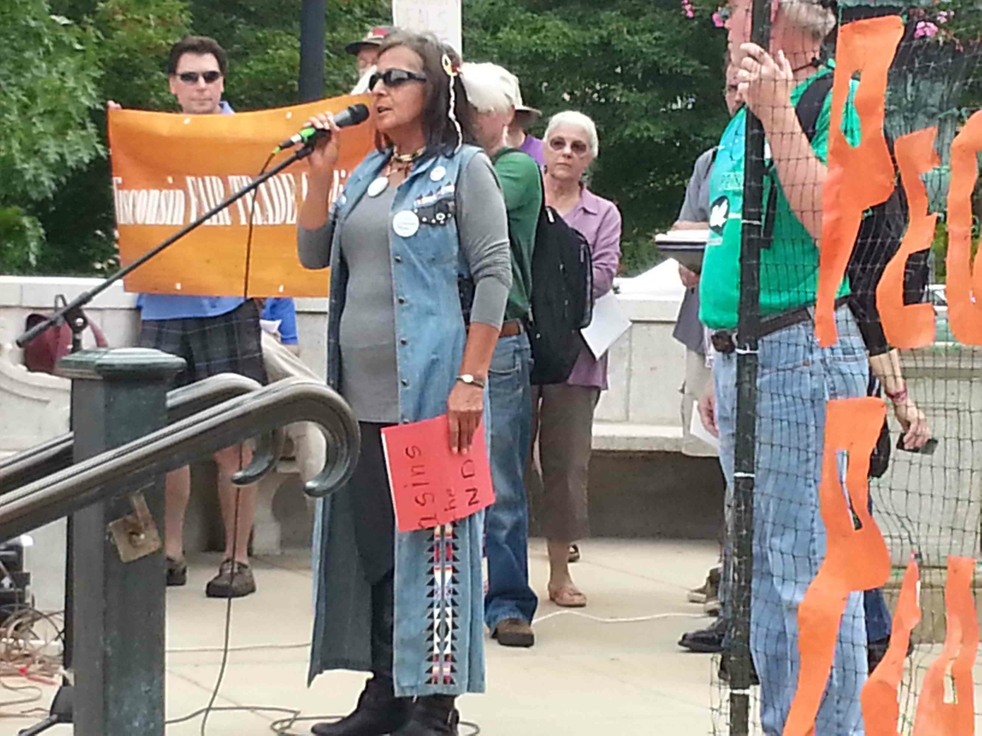 """Madison Rally: Fair Trade, Not """"Free Trade"""" 