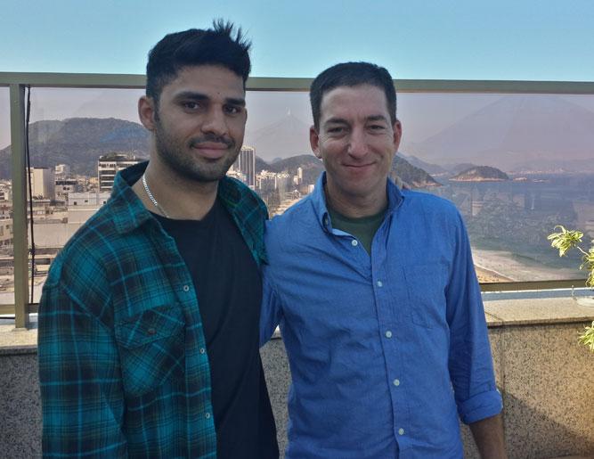 Glenn Greenwald and David Miranda 2