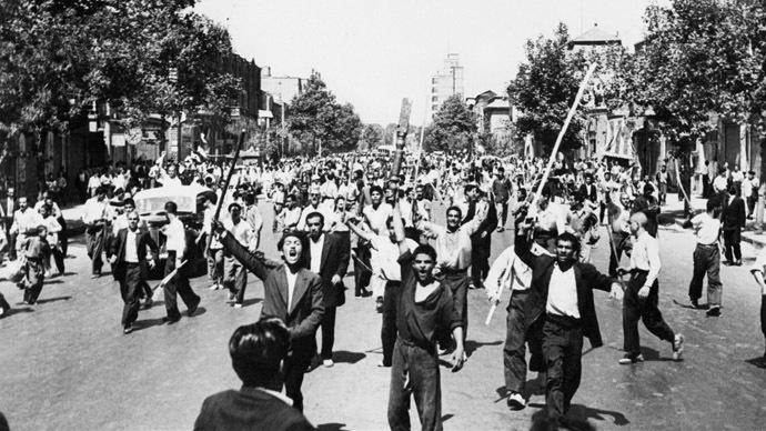 Iran Monarchist protest 1953