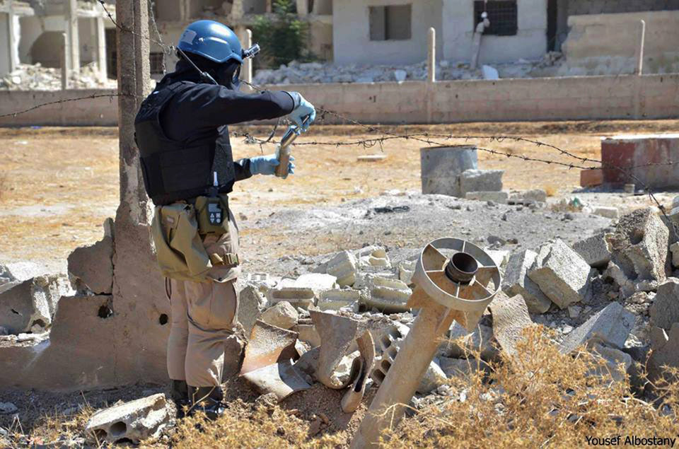 UN inspection team takes samples in Syria