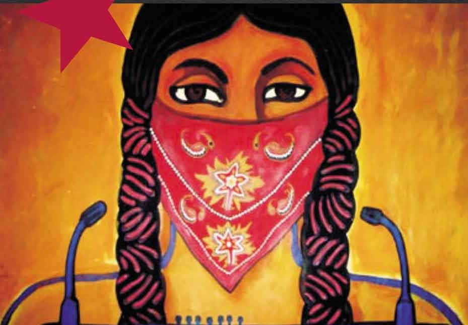 Zapatista woman image