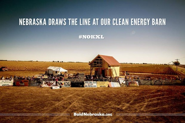 Bold Nebraska Draw the line at Clean ENergy Barn
