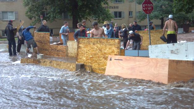 Boulder flooding