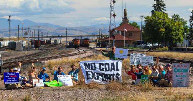 Coal train blockade, Helena, Montana