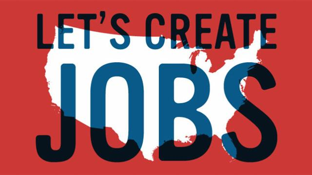 JObs Let's Create Jobs Sign