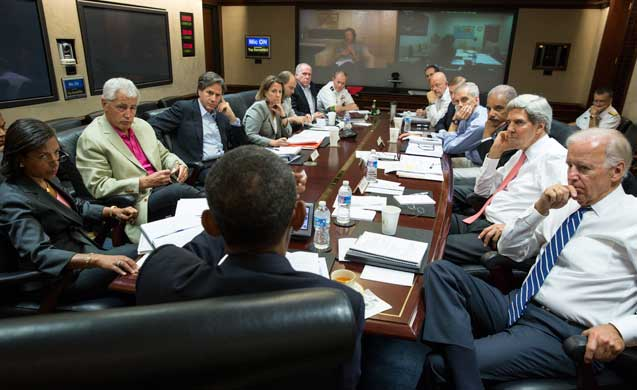 Obama with national security team