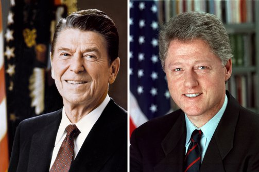 compare and contrasting bill clinton to ronald reagan Compare us presidents: ronald reagan vs george w bush view the presidents' foreign and domestic accomplishments, political backgrounds, and more.