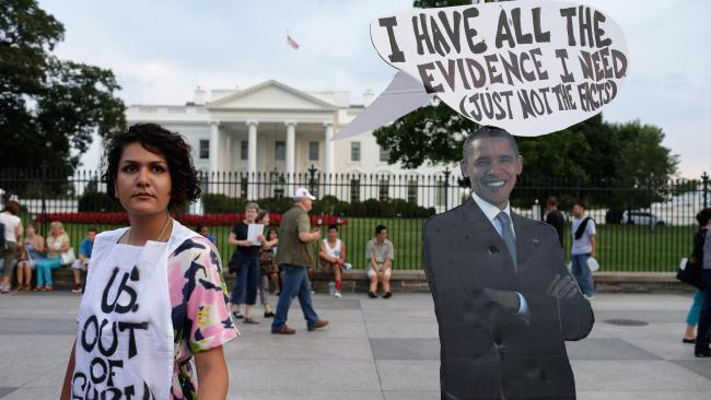 Syria antiwar protest Obama has all evidence he needs