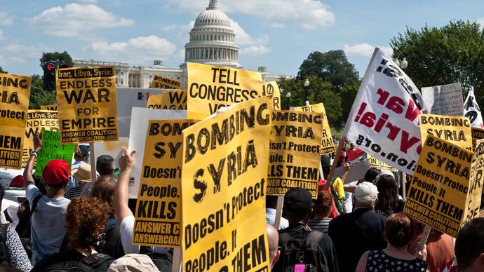 Syria protest in front of US capitol