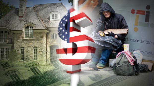 Wealth divide image
