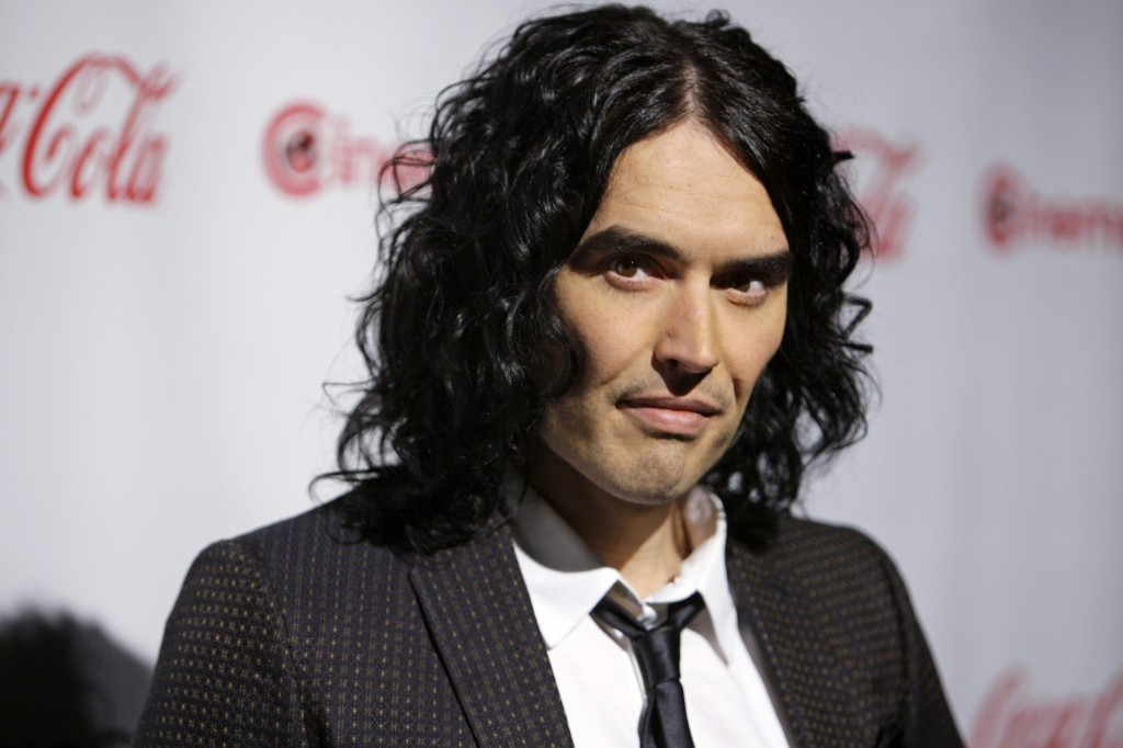 File picture of British comedian Russell Brand, who was deported from Japan on Saturday