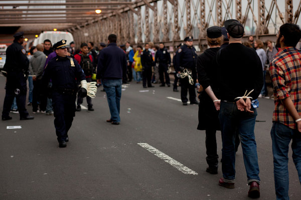 Brooklyn Bridge Arrests
