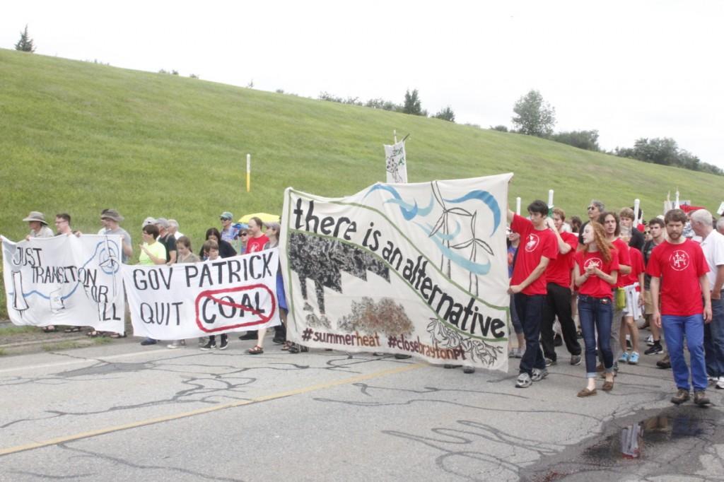 Coal protest Brayton Point, MA 2013 2