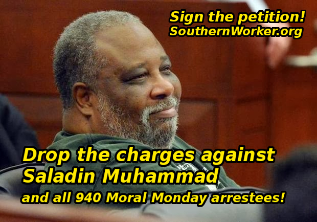 Drop Charges against Moral Monday arrestees