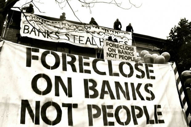 Foreclose on banks not on people