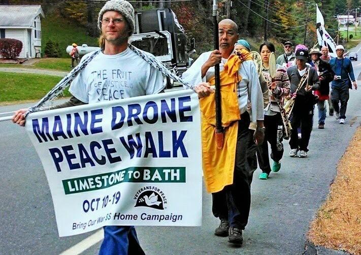 Maine drone peace walk