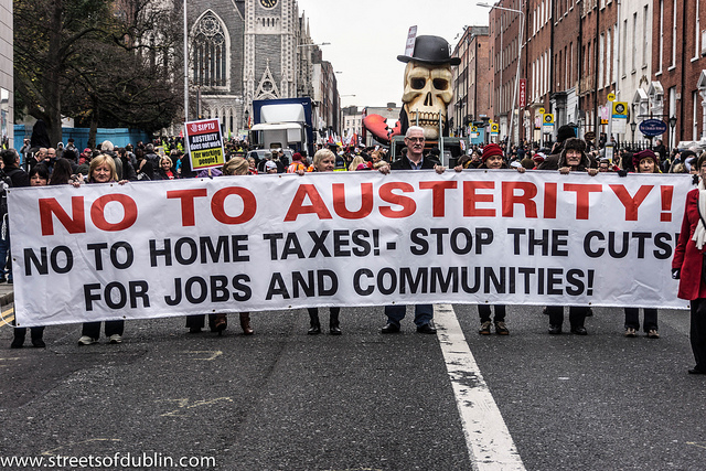 No Austerity protest