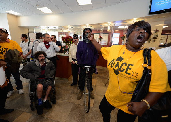 Peggy Mears Foreclosure Activists Demonstrate at US Bank