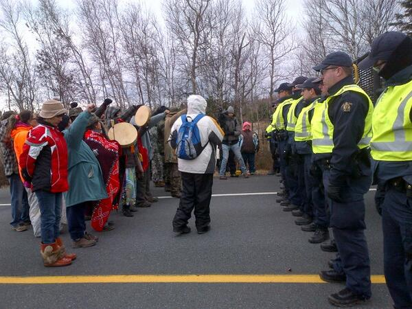 Mi'kmaq protest Nov 14 2