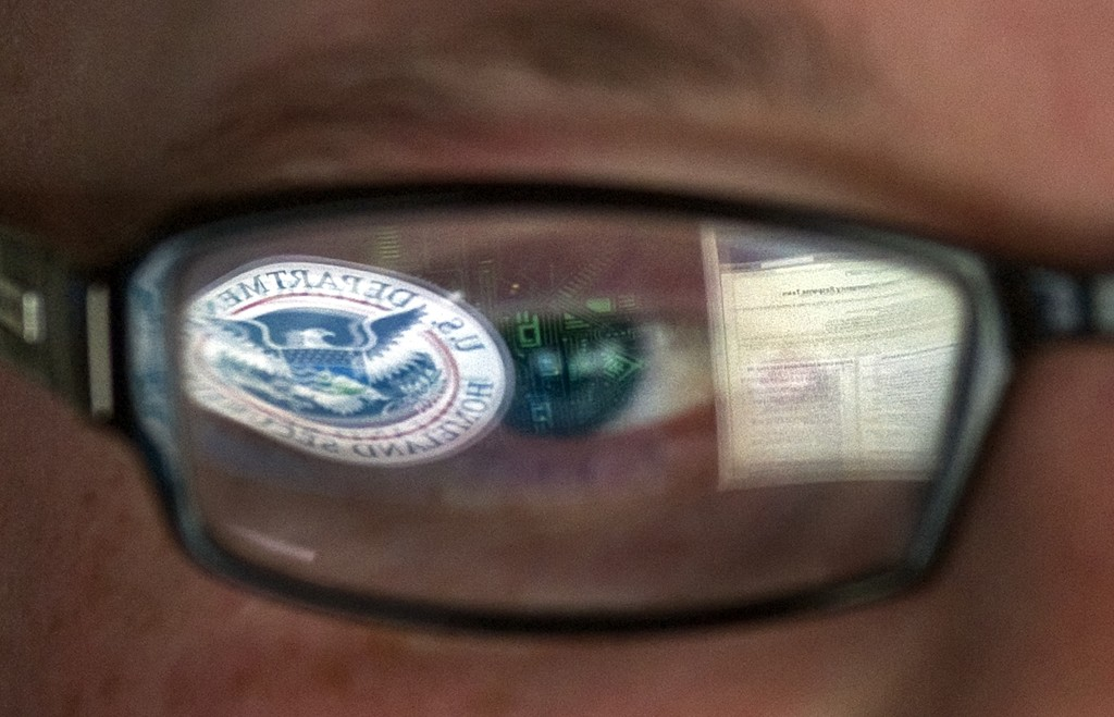 NSA image reflected in glasses