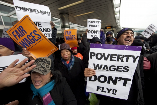 NY Air Port workers protest