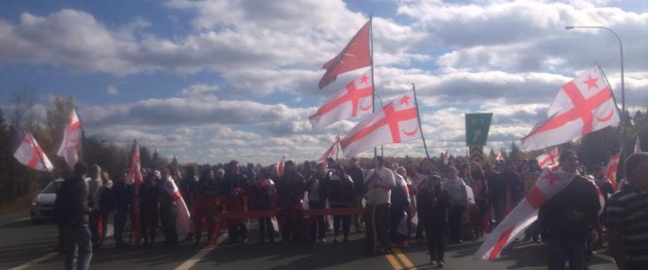 New Brunswick first nations protest blockade