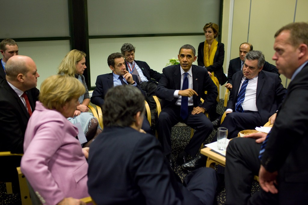 Obama with European leaders