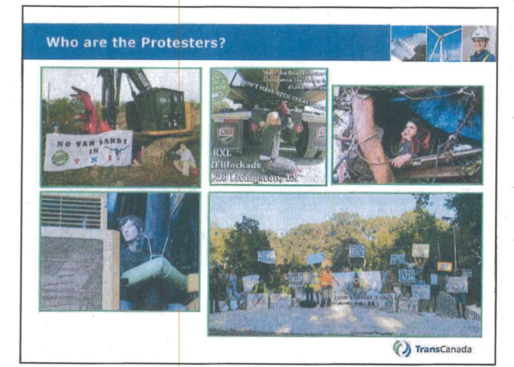 Trans Canada screen shot of protester-terrorists