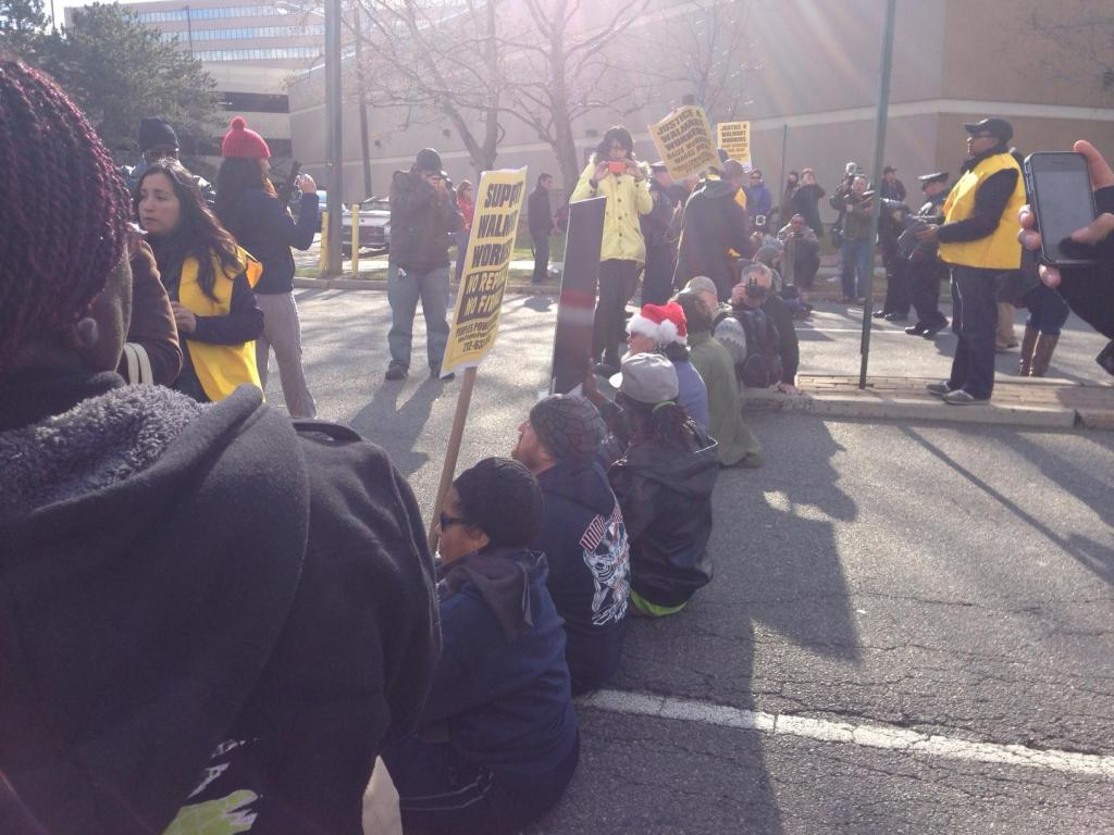 Walmart Black Friday strike Seacaucus, NJ by Allison Kilkeny