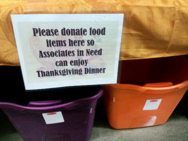 Walmart collects Thanksgiving donations for workers