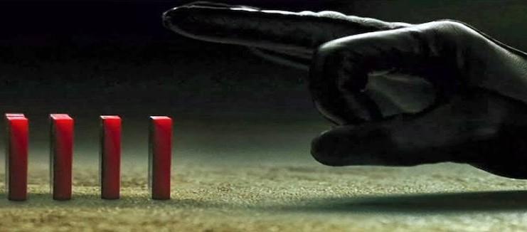#www finger hitting dominoes