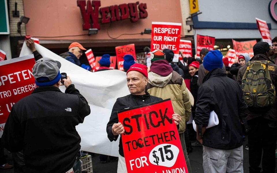 Dec Fast Food Strike Wendy's