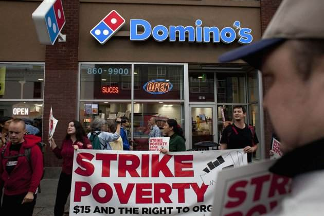 Dominoes strike for $15