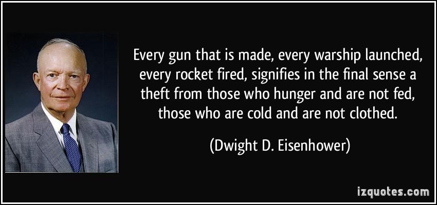 Eisenhower weapons vs food