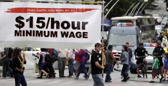 Minimum wage protest for $15 an hour
